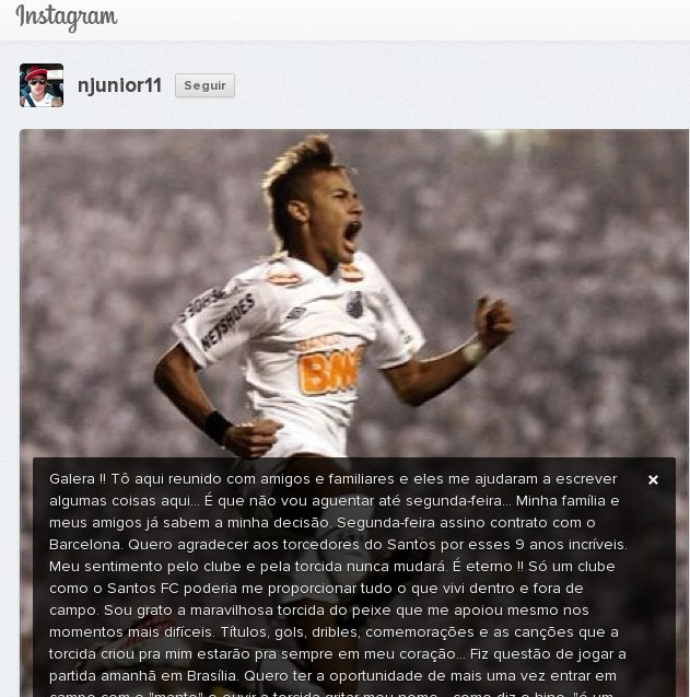 Instagram do Neymar